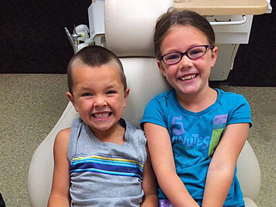 Happy kids about Dentist